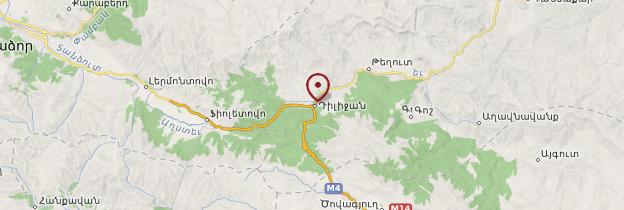 Carte Dilijan - Arménie
