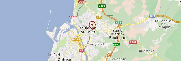 Carte Boulogne-sur-Mer - Nord-Pas-de-Calais