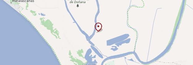 Carte Parc national de Doñana - Andalousie