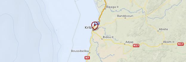 Carte Kribi - Cameroun