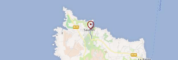 Carte Sauzon (Saozon) - Bretagne