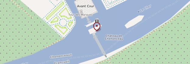 Carte Château et jardins de Chenonceau - Châteaux de la Loire