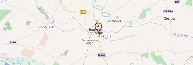 Carte Beuvron-en-Auge - Normandie