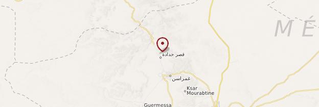 Carte Ksar-Haddada - Tunisie