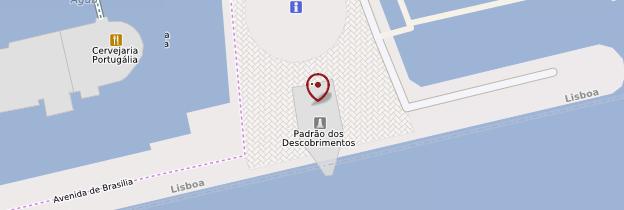 Carte Monumento das Descobertas - Lisbonne
