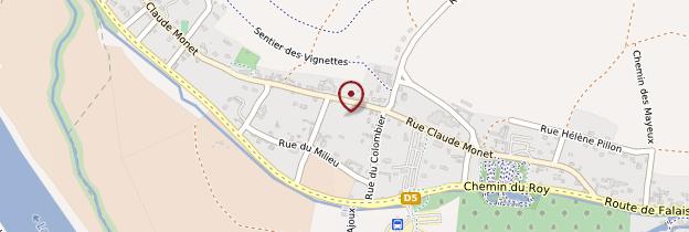 Carte Maison de Claude Monet - Normandie