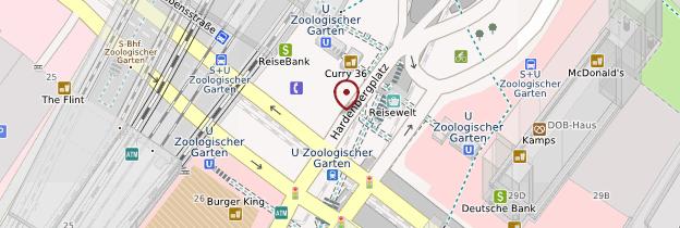 Carte Gare centrale (Lehrter Hauptbahnhof) - Berlin