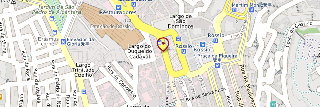 Carte Baixa et Rossio - Lisbonne