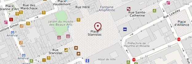 Carte Place Stanislas - Lorraine