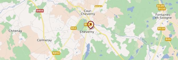 Carte Cheverny - Châteaux de la Loire