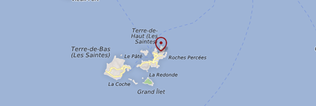 Carte Baie de Marigot - Guadeloupe