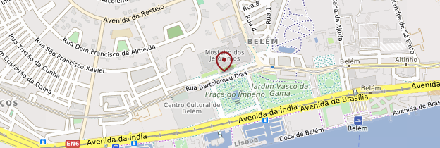 Carte Belém et Ajuda - Lisbonne