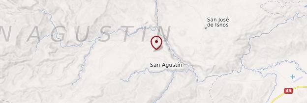 Carte San Agustín - Colombie