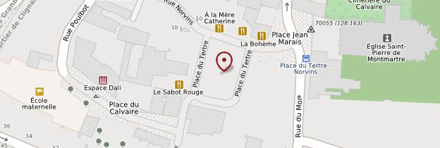 Carte Place du Tertre - Paris