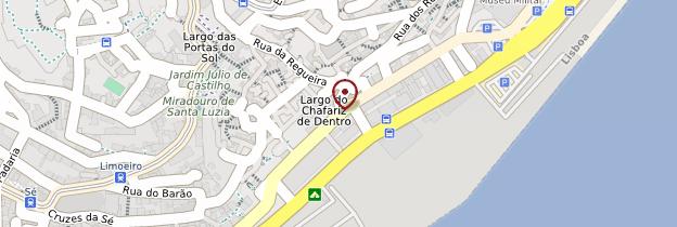 Carte Alfama et bairro do castelo São Jorge - Lisbonne