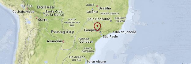 Carte État de São Paulo - Brésil