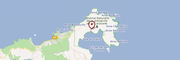 Carte Château Dubuc - Martinique