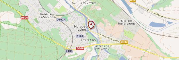 Carte Moret-sur-Loing - Île-de-France