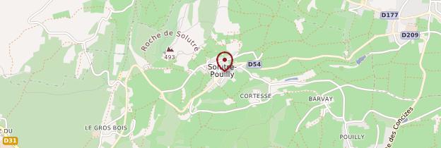 Carte Roche de Solutré - Bourgogne