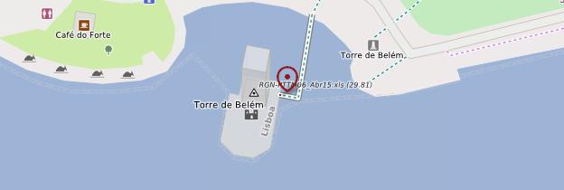 Carte Torre de Belém - Lisbonne