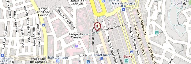 Carte Bairro Alto, Chiado et Cais do Sodré - Lisbonne