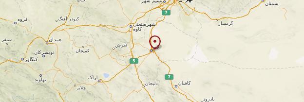 Carte Qom - Iran