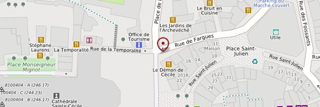 Carte Palais de la Berbie - Midi toulousain - Occitanie