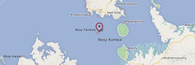 Carte Île de Nosy Tanikely - Madagascar