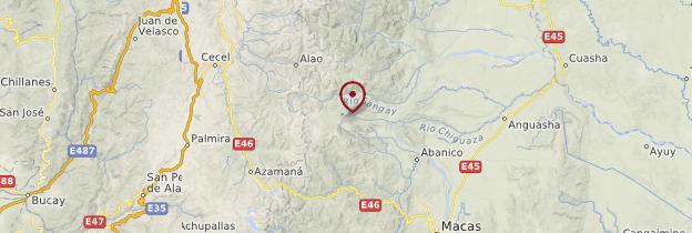 Carte Volcan et parc national Sangay - Équateur