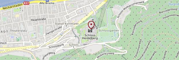 Carte Château de Heidelberg - Allemagne