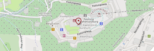Carte Festung Hohensalzburg (forteresse de Hohensalzburg) - Autriche