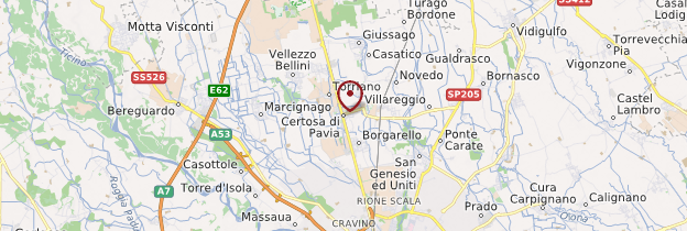 Carte Certosa di Pavia (chartreuse de Pavie) - Italie