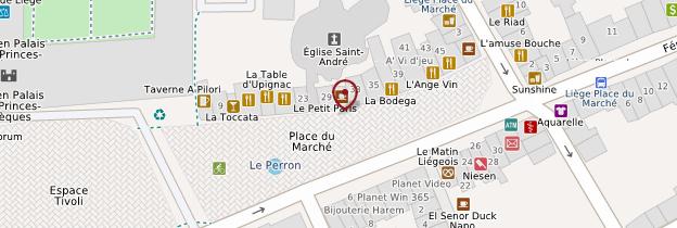 Carte Place du Marché - Belgique
