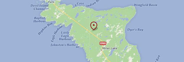 Carte Bruce Peninsula National Park - Canada