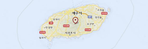 Carte Île de Jeju - Corée du Sud
