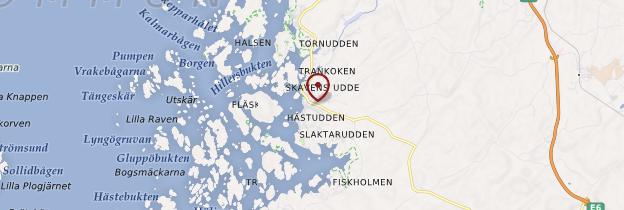 Carte Fjällbacka - Suède