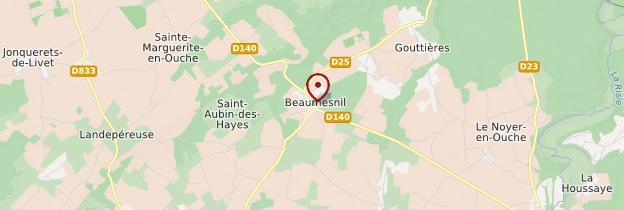 Carte Château de Beaumesnil - Normandie