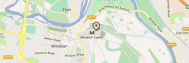 Carte Château de Windsor - Angleterre