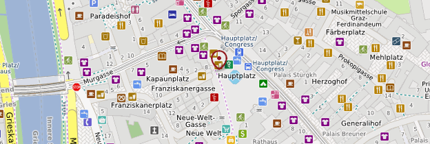 Carte Hauptplatz (Grand-Place)  - Autriche
