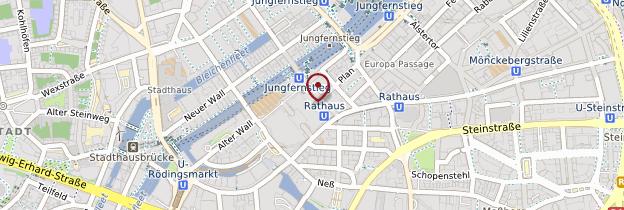 Carte Hôtel de ville de Hambourg - Allemagne