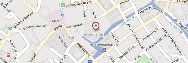 Carte Hôtel de ville (Stadhuis) - Bruges