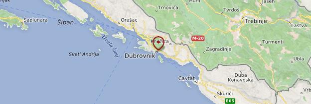 Carte Dubrovnik - Croatie
