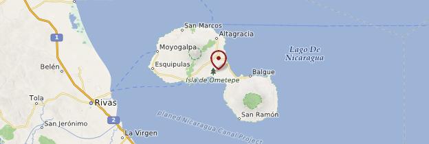 Carte Île Ometepe - Nicaragua