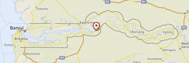 Carte Intérieur des terres - Gambie