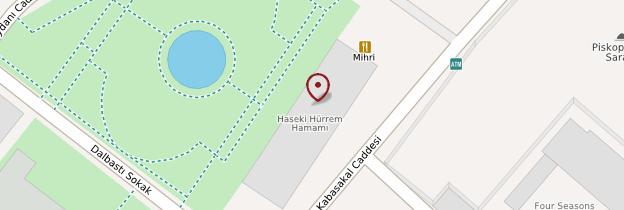 Carte Ancien hammam Haseki Hürrem - Istanbul