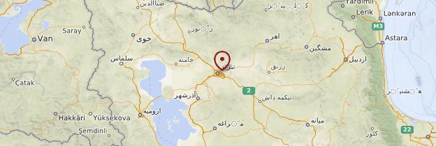 Carte Tabriz - Iran