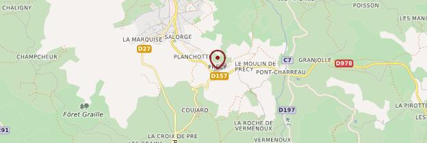 Carte Château-Chinon - Bourgogne