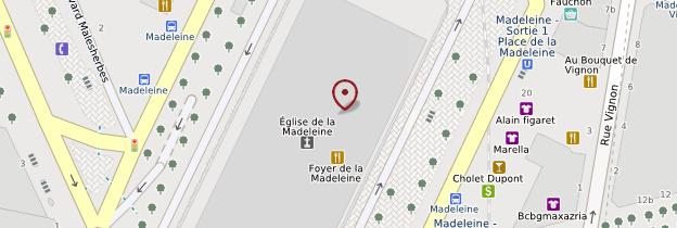 Carte Église de la Madeleine - Paris