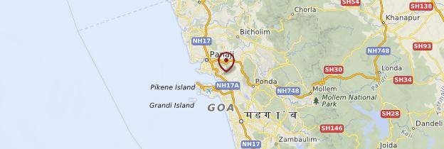 Carte Old Goa (Velha Goa) - Goa