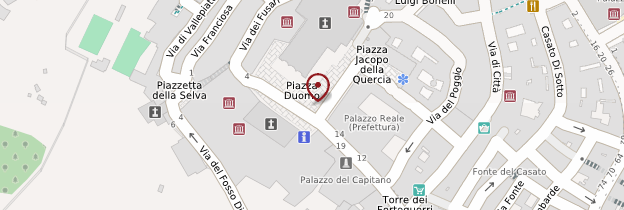 Carte Duomo de Sienne - Toscane